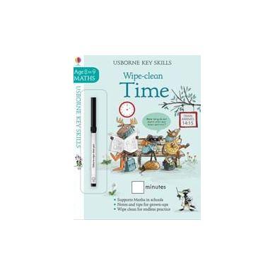 Wydawnictwo Usborne Publishing - Wipe clean time 8-9