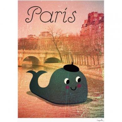 OMM Design - Plakat Wieloryb w Paryżu