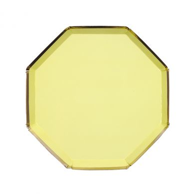 Meri Meri - Małe Talerzyki Oktagonalne Żółte