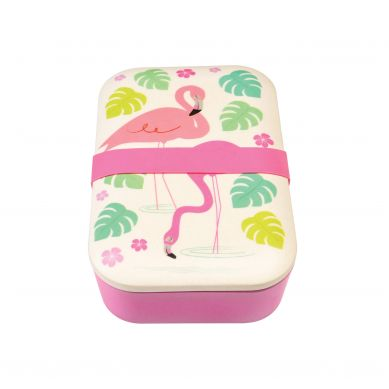 Rex - Bambusowy Lunchbox Flamingo Bay