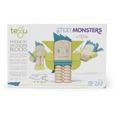Tegu - Drewniane Klocki Magnetyczne Sticky Monsters Zip Zap