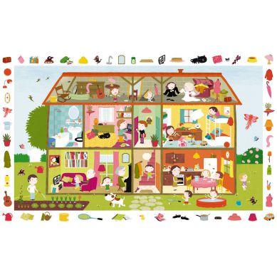 Djeco Puzzle Obserwacyjne Dom 35 elementów