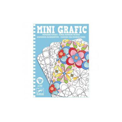 Djeco - Mini Grafika Kolorowanie Kwiatów
