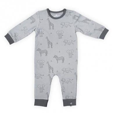 Jollein - Piżamka Rozpinana z BIO Bawełny Organicznej Safari Grey 50/56