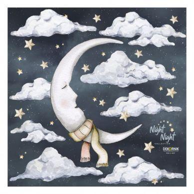 Dekornik - Naklejki Księżyc Night Night / Magic Is Everywhere L