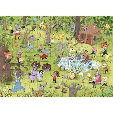 Auzou - Puzzle Opowieści o Zwierzętach 54 el. 3+
