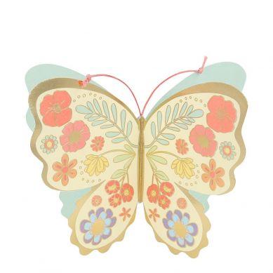 Meri Meri - Kartka Okolicznościowa 3D Motyl Kwiatów
