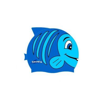 SwimFin - Silikonowy Czepek dla Dzieci Niebieski