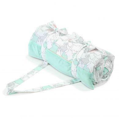 La Millou - Koc Piknikowy z Kieszonką, Mata do Zabawy XL #ilovepanda Pure Mint