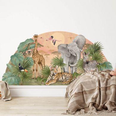 Pastelowelove - Naklejka na Ścianę Safari