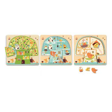 Djeco Puzzle Trzy Plansze Drzewko
