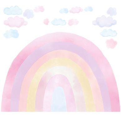 Pastelowelove - Naklejka na Ścianę Tęcza Różowa