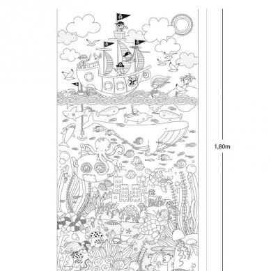 Apli Kids - Gigantyczny Plakat do Kolorowania Morka Przygoda