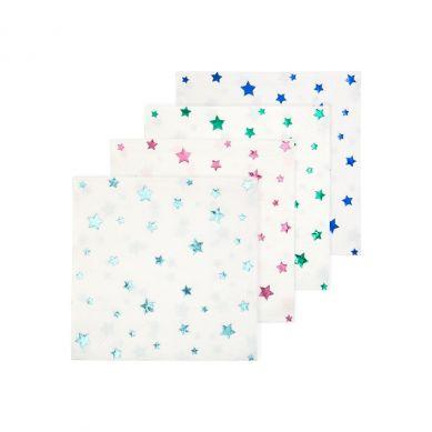Meri Meri - Małe Serwetki Gwiazdy metaliczne