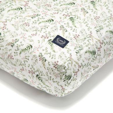 La Millou - Prześcieradło Good Night 70x140 cm White Blossom Forest