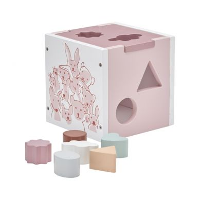 Kids Concept - Edvin Sorter Drewniany Różowy
