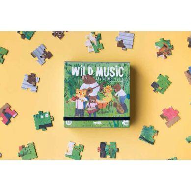 Londji - Dwustronne Puzzle Dzika Muzyka