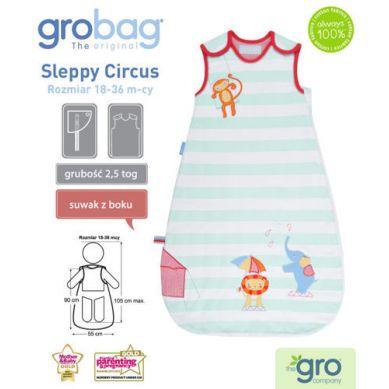 Gro Company - Śpiworek Grobag 2.5 tog 6-18m Sleppy Circus