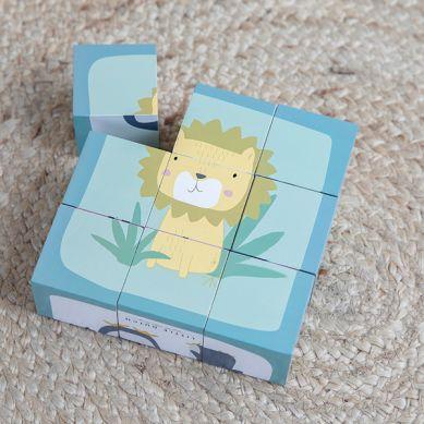 Little Dutch - Puzzle-kostki 6 Elementów Zwierzątka