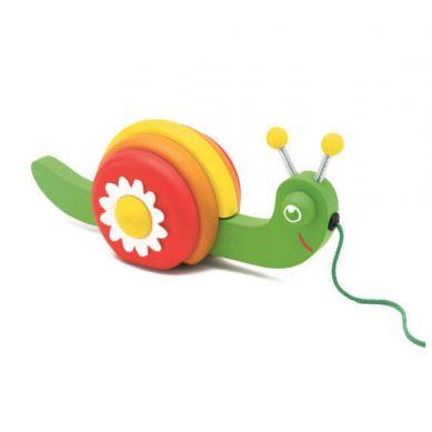 Djeco - Zabawka do Ciągnięcia Ślimaczek Luigi