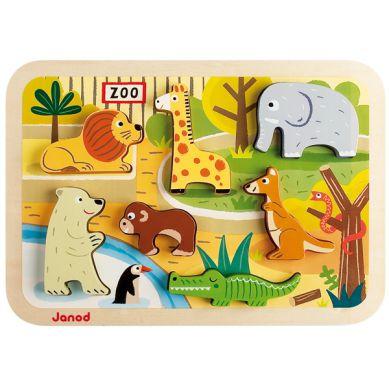 Janod - Układanka 3d Zwierzęta w Zoo