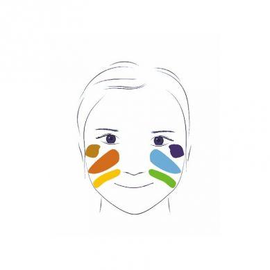 Djeco - Farby do Malowania Twarzy 6 Kolorów Metallic