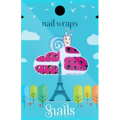 Snails - Naklejany Lakier Wraps Pink Stars