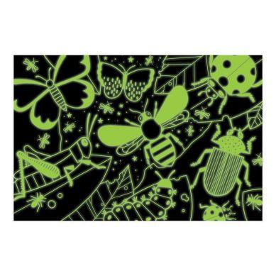 Mudpuppy - Puzzle Świecące w Ciemności Insekty 100 elementów 5+