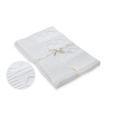 Molomoco - Kocyk Niemowlęcy Silene Biały