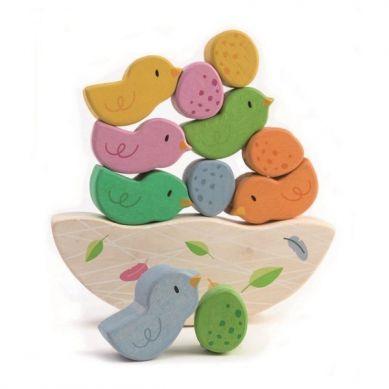 Tender Leaf Toys - Drewniana Gra Zręcznościowa Balansujące Małe Ptaszki 18m+