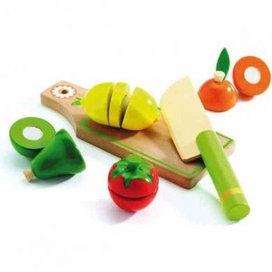 Djeco Drewniane Owoce i Warzywa Do Krojenia