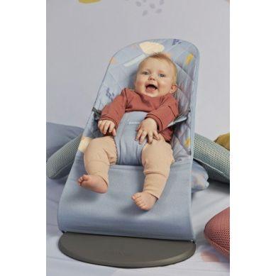 BabyBjorn - Leżaczek Bliss Cotton Niebieski/Confetti