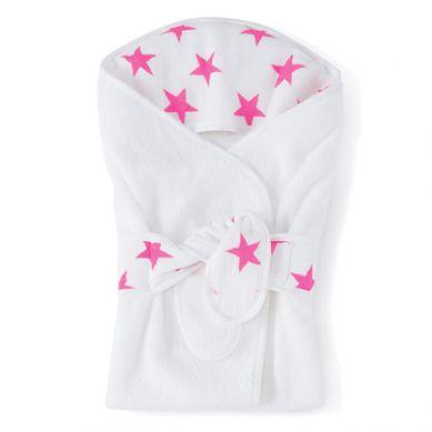 aden + anais - Ręczniczek dla Noworodków z Kapturkiem Fluro Pink