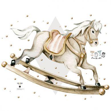 Dekornik - Naklejka Koń na Biegunach Toys From the Attic