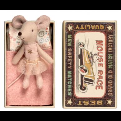 Maileg - Przytulanka Myszka Little Sister z Tiulową Spódniczką w Pudełeczku