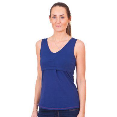 Quaranta Settimane - Koszulka do Karmienia Bez Rękawów Niebieska S