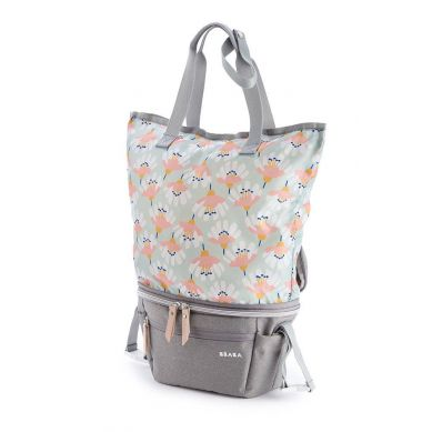 Beaba - Torba dla Mamy 2w1 Biarritz Heather Grey