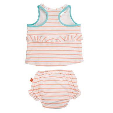 Lassig - Kostium do Pływania Dwuczęściowy z Wkładką Chłonną Sailor Peach UV 50+ 24m
