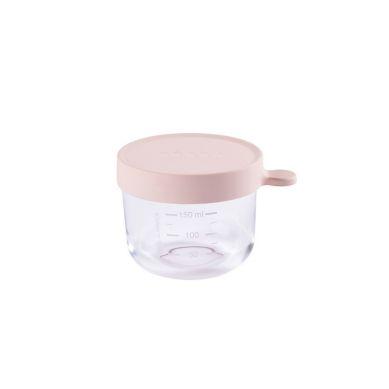 Beaba - Pojemnik Słoiczek Szklany z Hermetycznym Zamknięciem 150 ml Pink