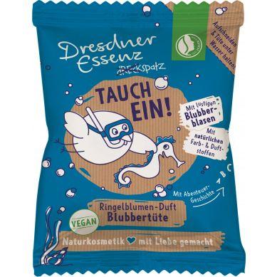 Dresdner Essenz - Sól Do Kąpieli Baw się Dobrze Podwodny Wulkan o Delikatnym Zapachu Nagietka  Nadaje Niebieski Kolor Kąpieli