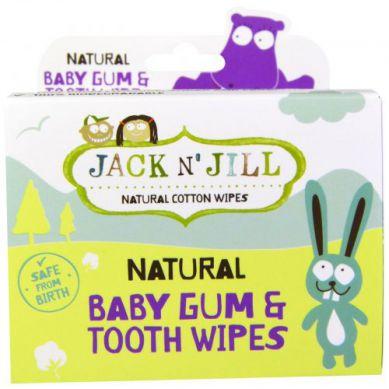 Jack N'Jill - Naturalne Chusteczki do Mycia Dziąseł Niemowląt, 25 szt.
