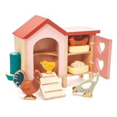 Tender Leaf Toys - Drewniane Figurki do Zabawy Kurnik z Kurami 3+