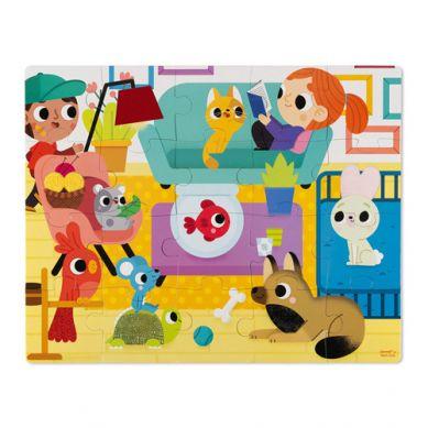 Janod - Puzzle Sensoryczne 20 elementów Zwierzęta Domowe