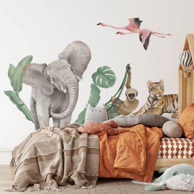 Pastelowelove - Naklejka na Ścianę Safari Zwierzęta II
