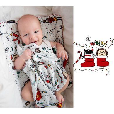 Lullalove - Otulacz Muślinowy Jeże Święta