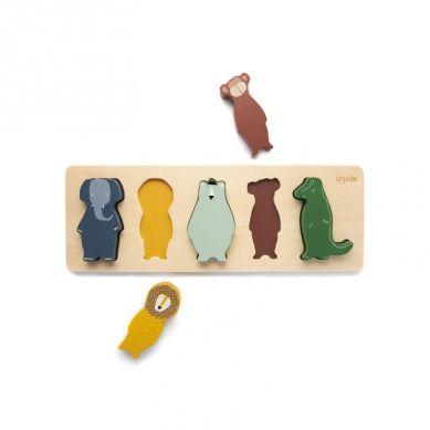Trixie - Drewniane Puzzle w Kształcie Zwierząt Animals