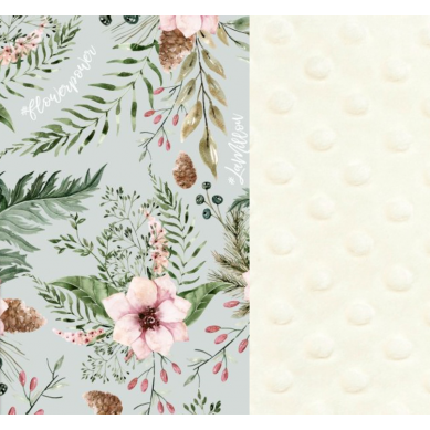 La Millou - Królik 23 cm Ecru Wild Blossom Mint