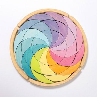 Grimm's - Drewniana Układanka Pastelowa Spirala 3+