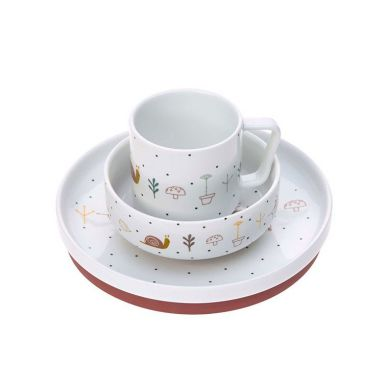 Lassig - Komplet Naczyń z Porcelany Garden Explorer Ślimak
