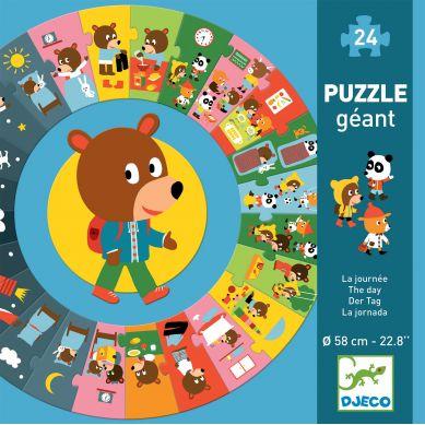 Djeco - Puzzle Gigant Dzień